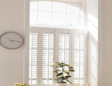 Discovery Blinds and Shutters White Cafe Style Wooden Shutters