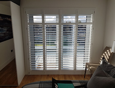 Discovery Blinds and Shutters White Wooden Shutters