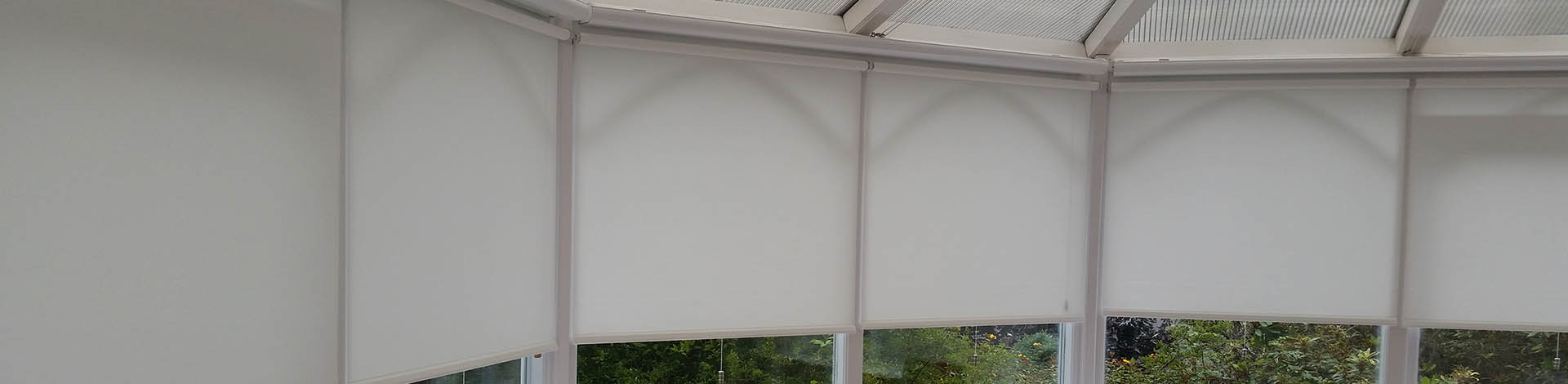 Discovery Blinds and Shutters Conservatory Roller Blinds with a Video oF a recent Installation of motorised roller blinds
